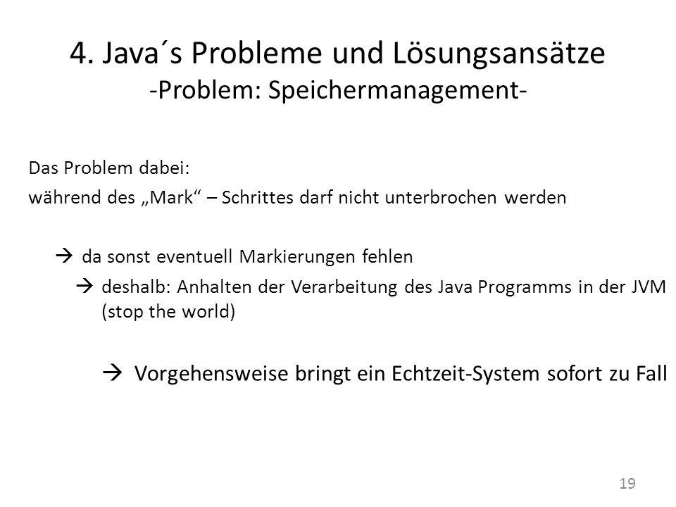 4. Java´s Probleme und Lösungsansätze -Problem: Speichermanagement-