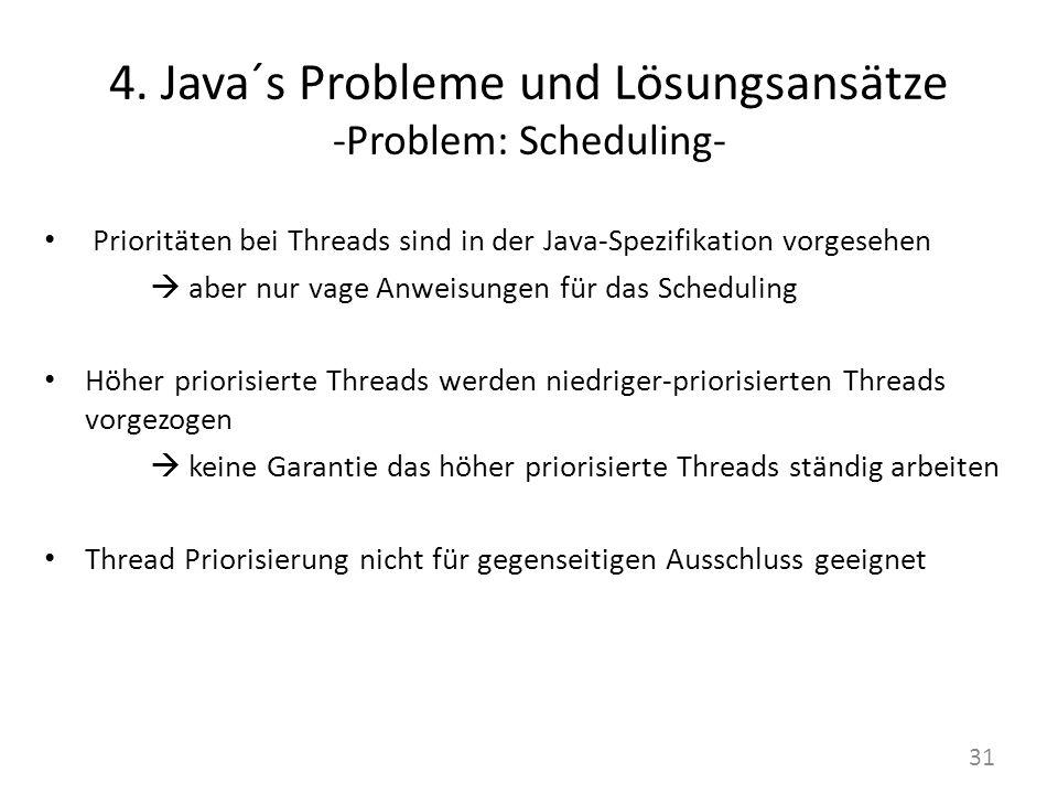 4. Java´s Probleme und Lösungsansätze -Problem: Scheduling-