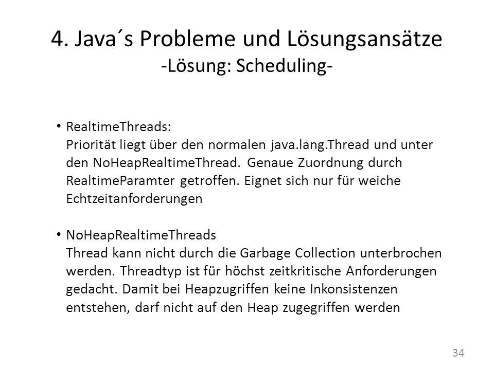 4. Java´s Probleme und Lösungsansätze -Lösung: Scheduling-