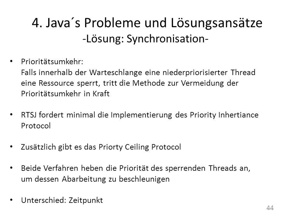 4. Java´s Probleme und Lösungsansätze -Lösung: Synchronisation-