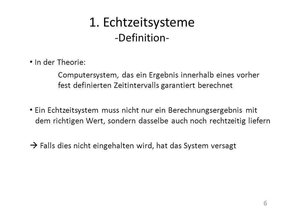 1. Echtzeitsysteme -Definition-