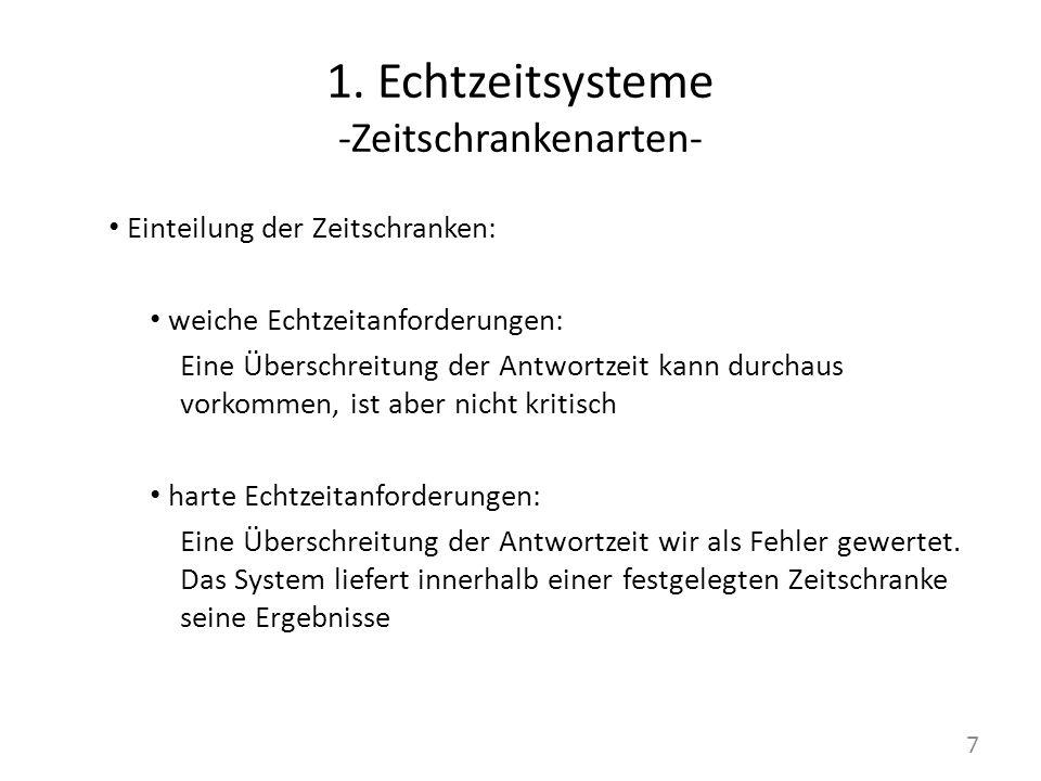 1. Echtzeitsysteme -Zeitschrankenarten-