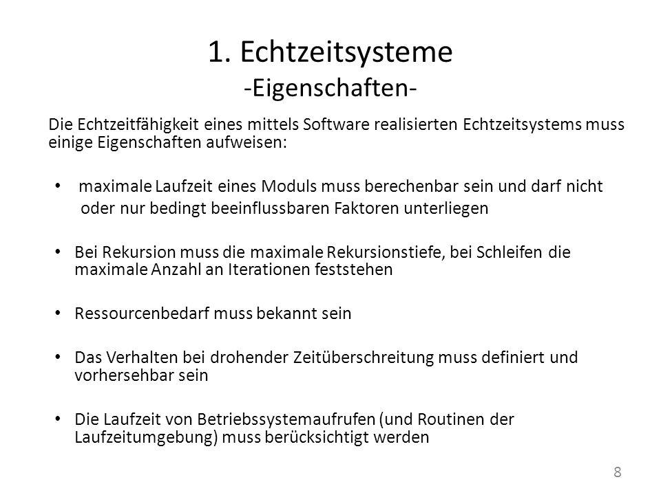 1. Echtzeitsysteme -Eigenschaften-