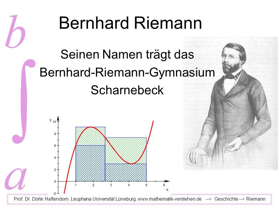 Seinen Namen trägt das Bernhard-Riemann-Gymnasium Scharnebeck