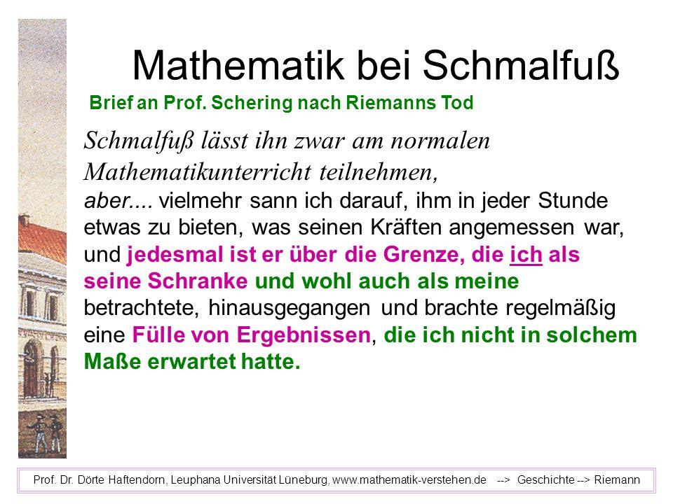 Mathematik bei Schmalfuß