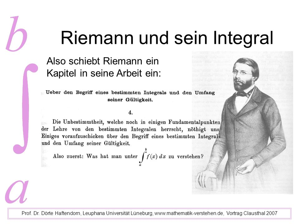Riemann und sein Integral