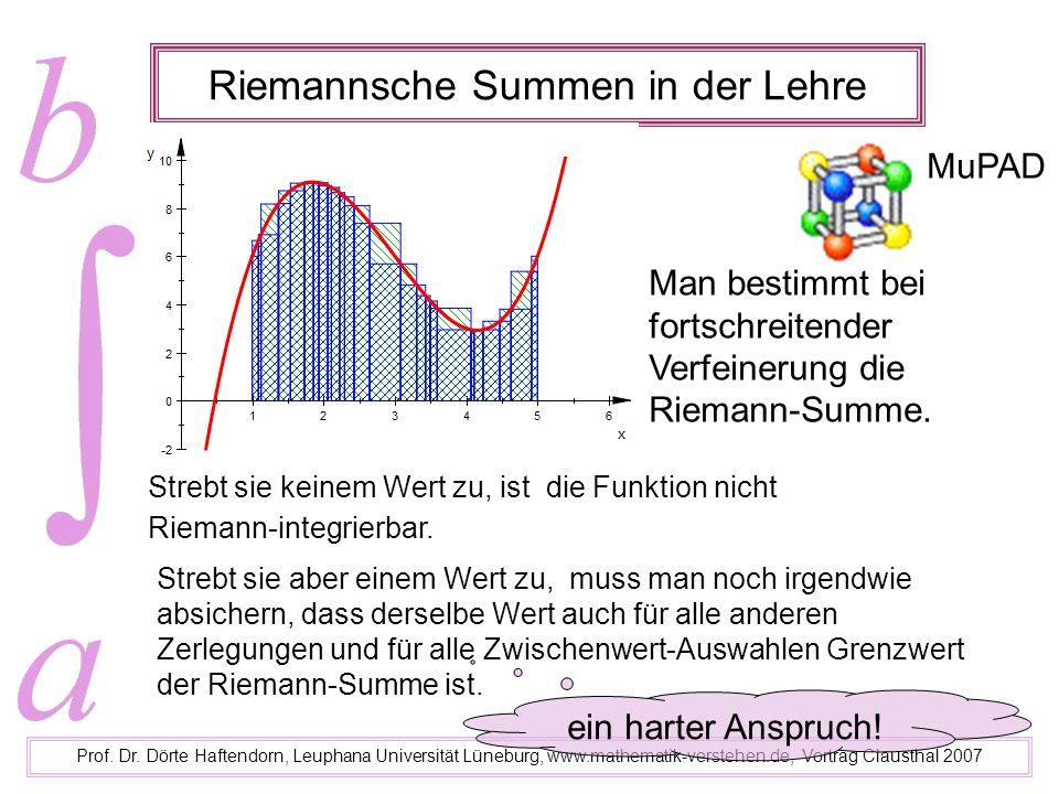 Riemannsche Summen in der Lehre