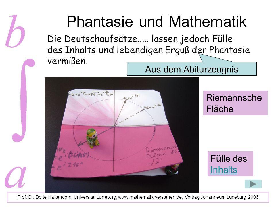 Phantasie und Mathematik