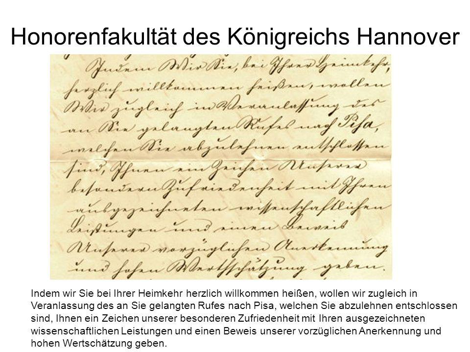 Honorenfakultät des Königreichs Hannover