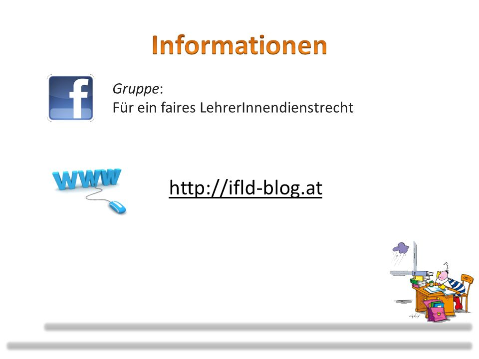 Informationen http://ifld-blog.at Gruppe: