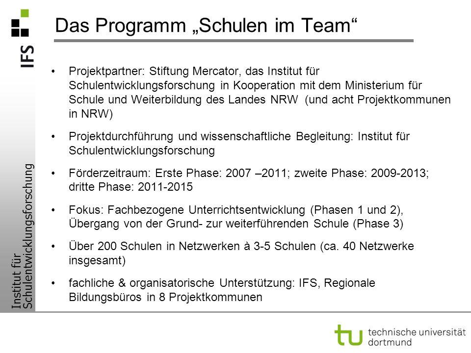 """Das Programm """"Schulen im Team"""