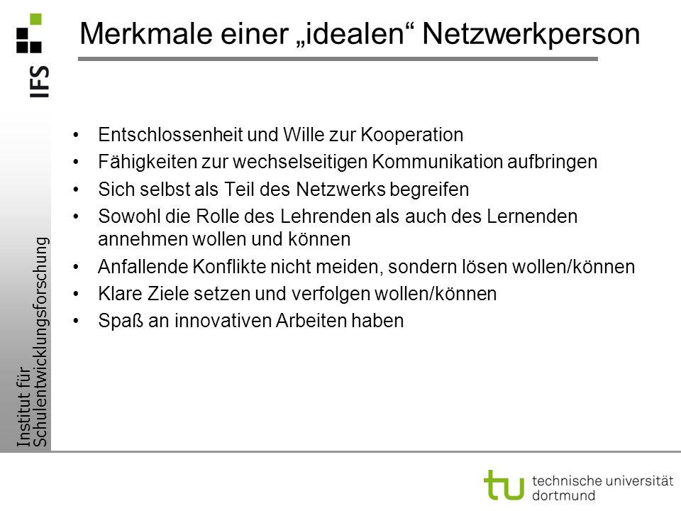 """Merkmale einer """"idealen Netzwerkperson"""