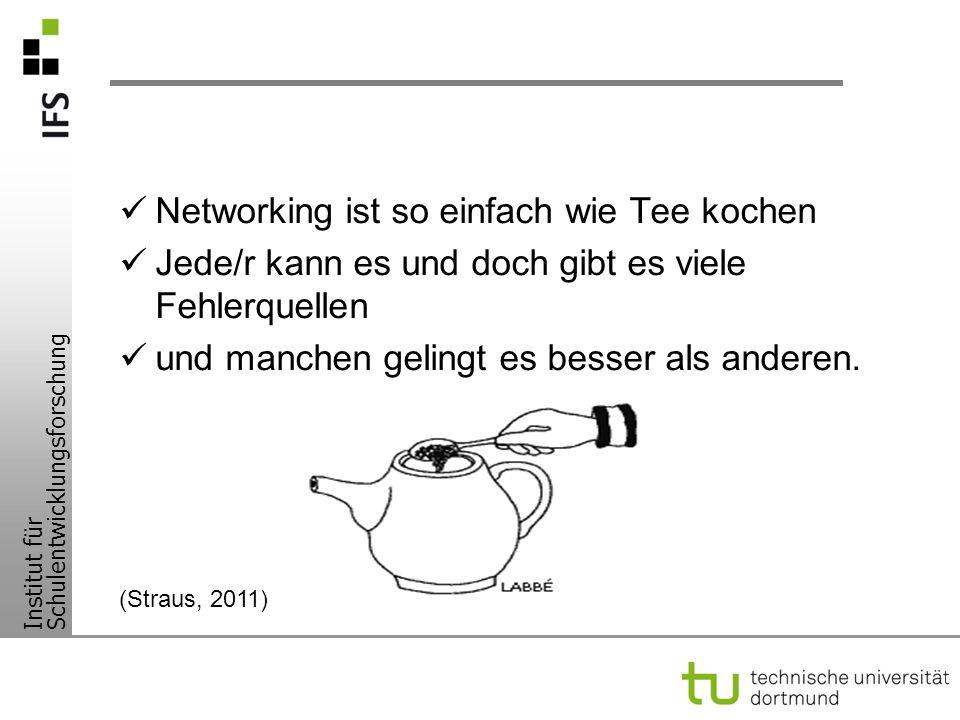 Networking ist so einfach wie Tee kochen