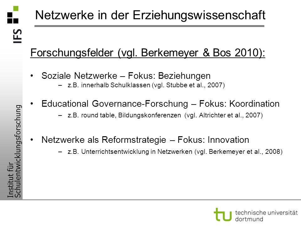 Netzwerke in der Erziehungswissenschaft