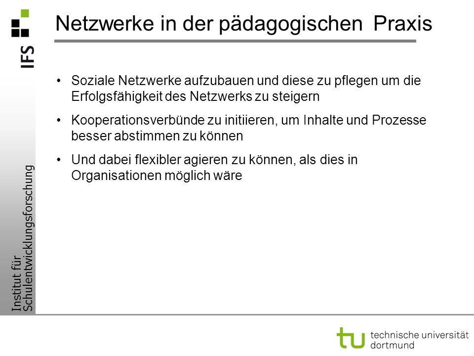Netzwerke in der pädagogischen Praxis