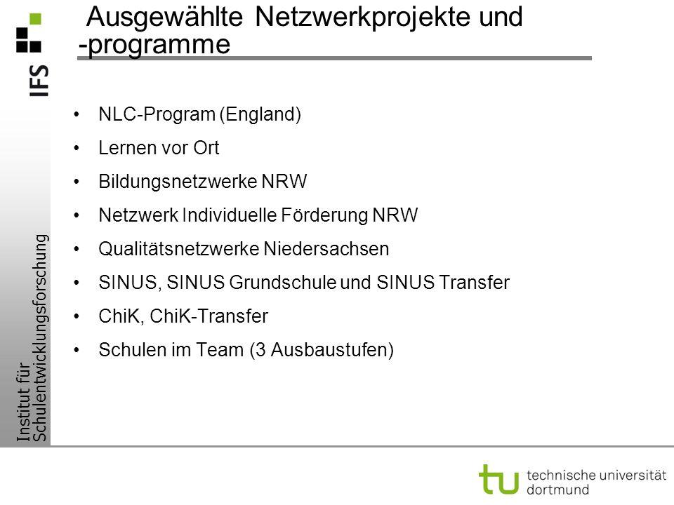 Ausgewählte Netzwerkprojekte und -programme