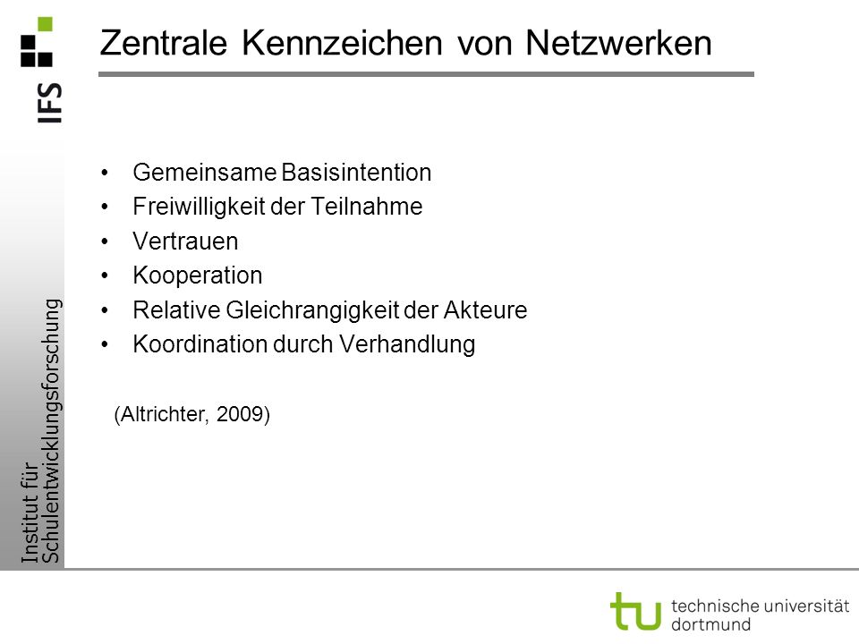 Zentrale Kennzeichen von Netzwerken