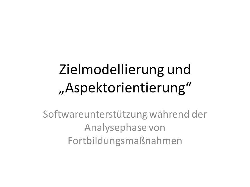 """Zielmodellierung und """"Aspektorientierung"""