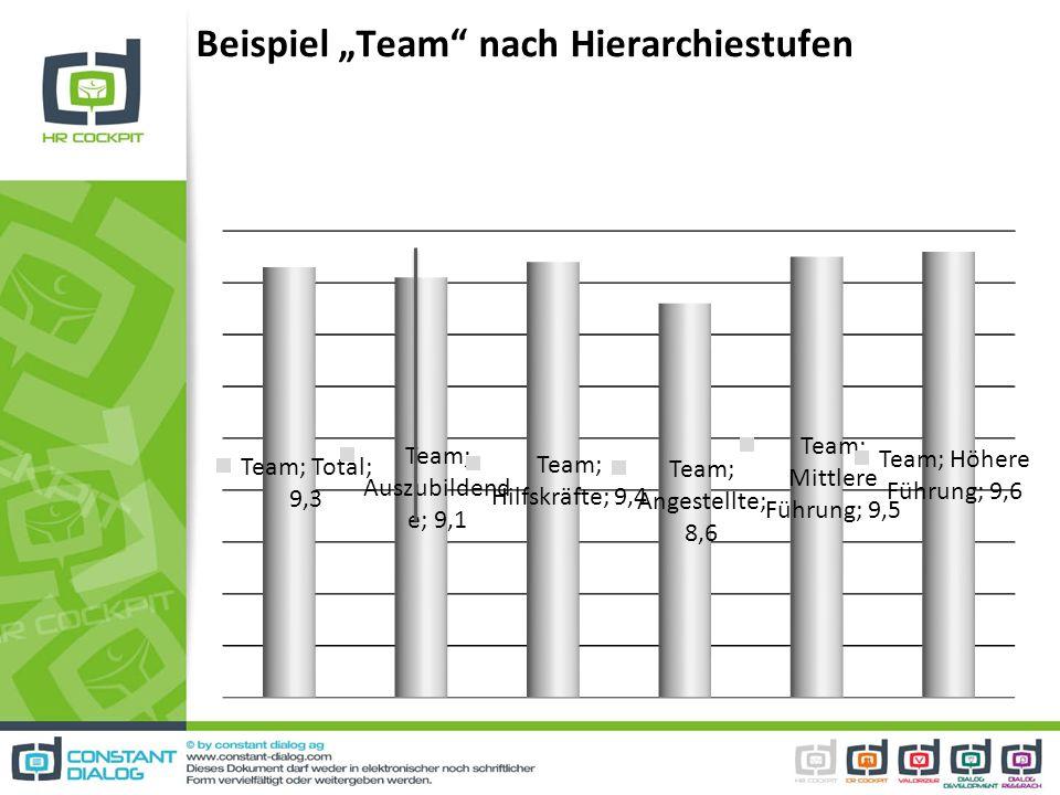 """Beispiel """"Team nach Hierarchiestufen"""