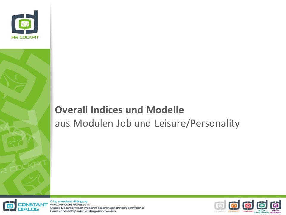 Overall Indices und Modelle aus Modulen Job und Leisure/Personality