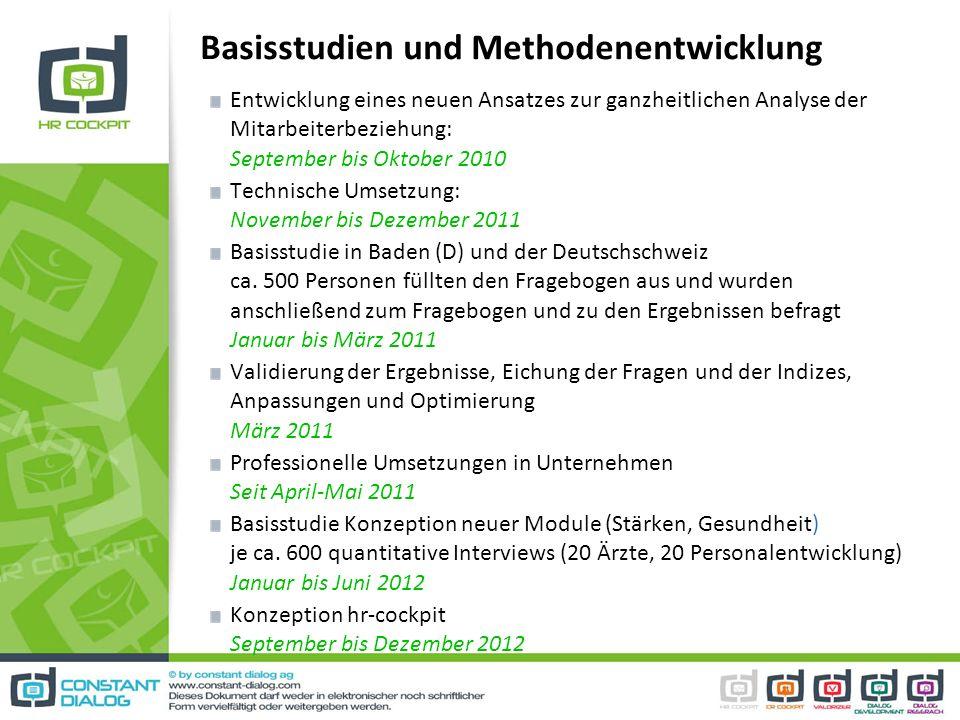 Basisstudien und Methodenentwicklung
