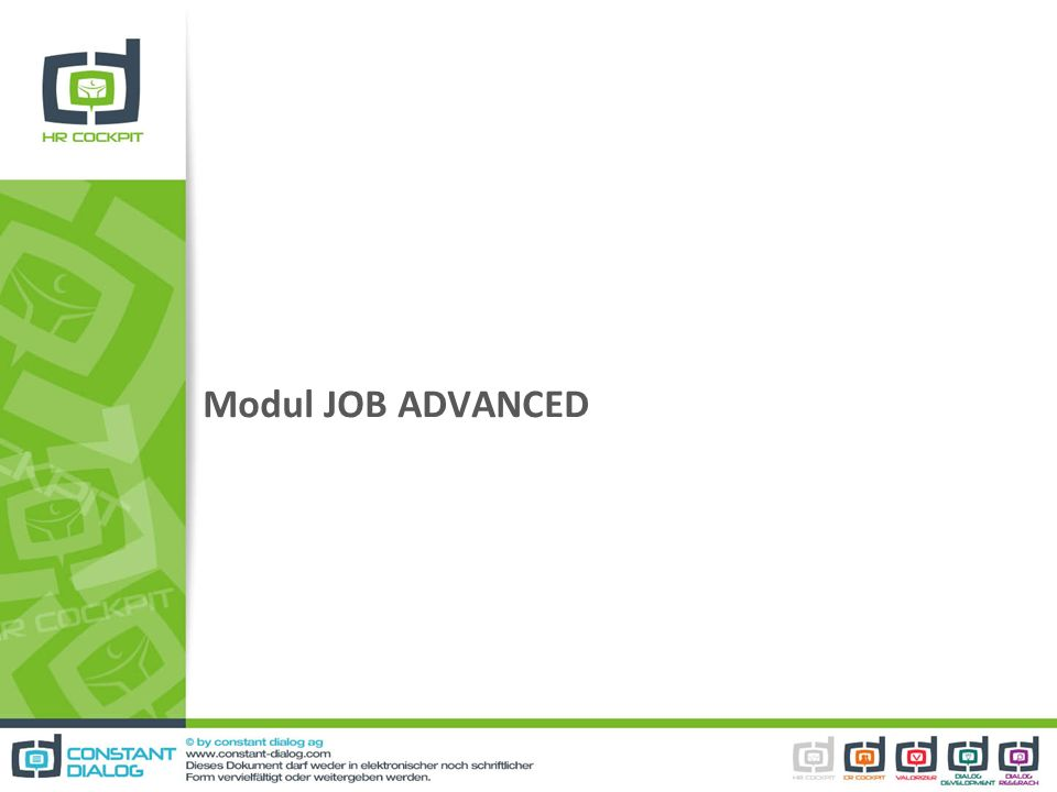 Modul JOB ADVANCED