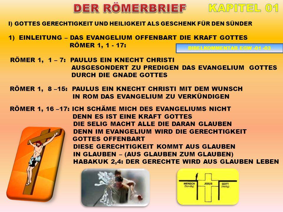 DER RÖMERBRIEF KAPITEL 01