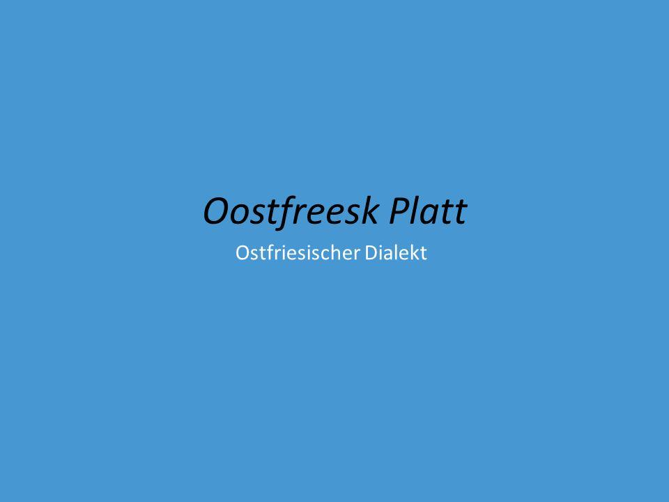 Ostfriesischer Dialekt