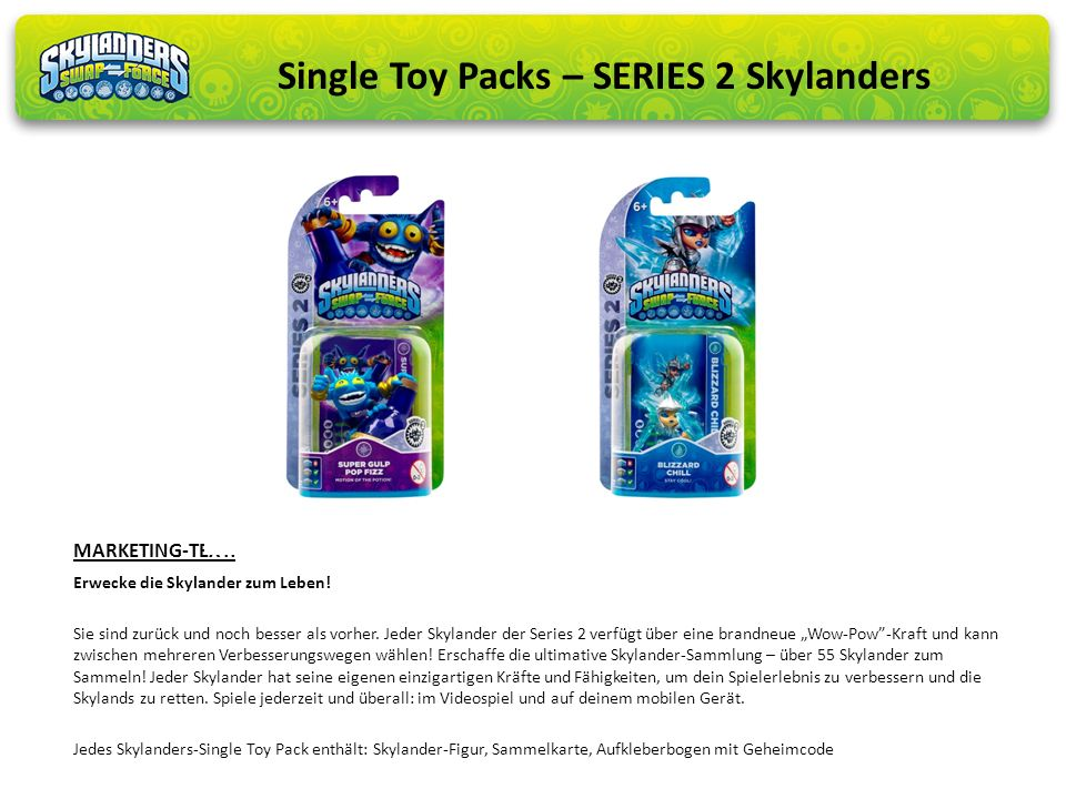 Single Toy Packs – SERIES 2 Skylanders