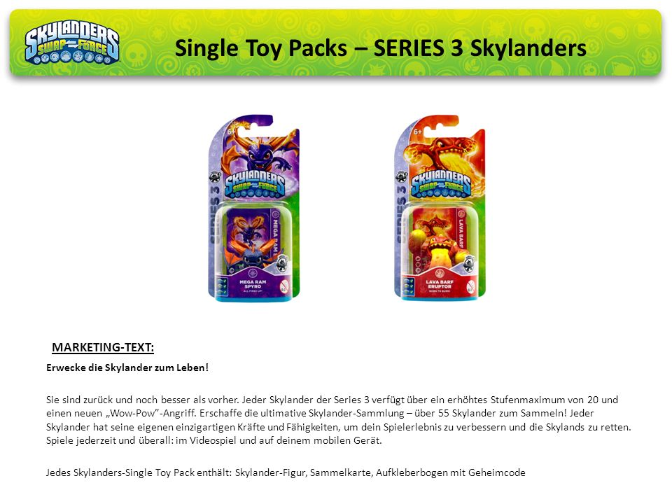 Single Toy Packs – SERIES 3 Skylanders