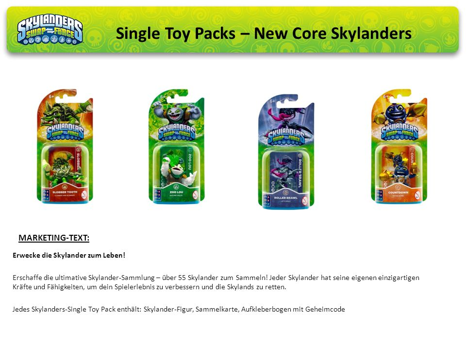 Single Toy Packs – New Core Skylanders