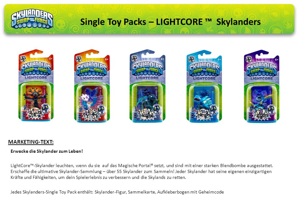 Single Toy Packs – LIGHTCORE ™ Skylanders