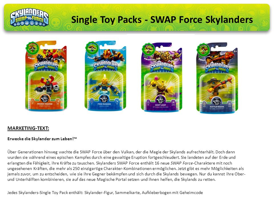 Single Toy Packs - SWAP Force Skylanders