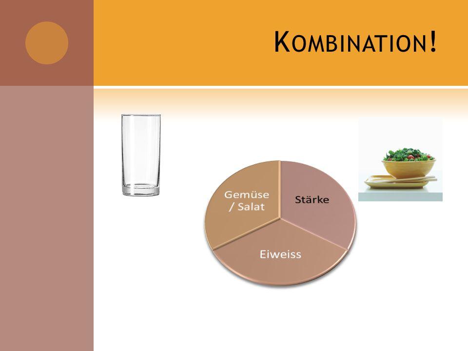 Kombination! Stärke Eiweiss Gemüse / Salat