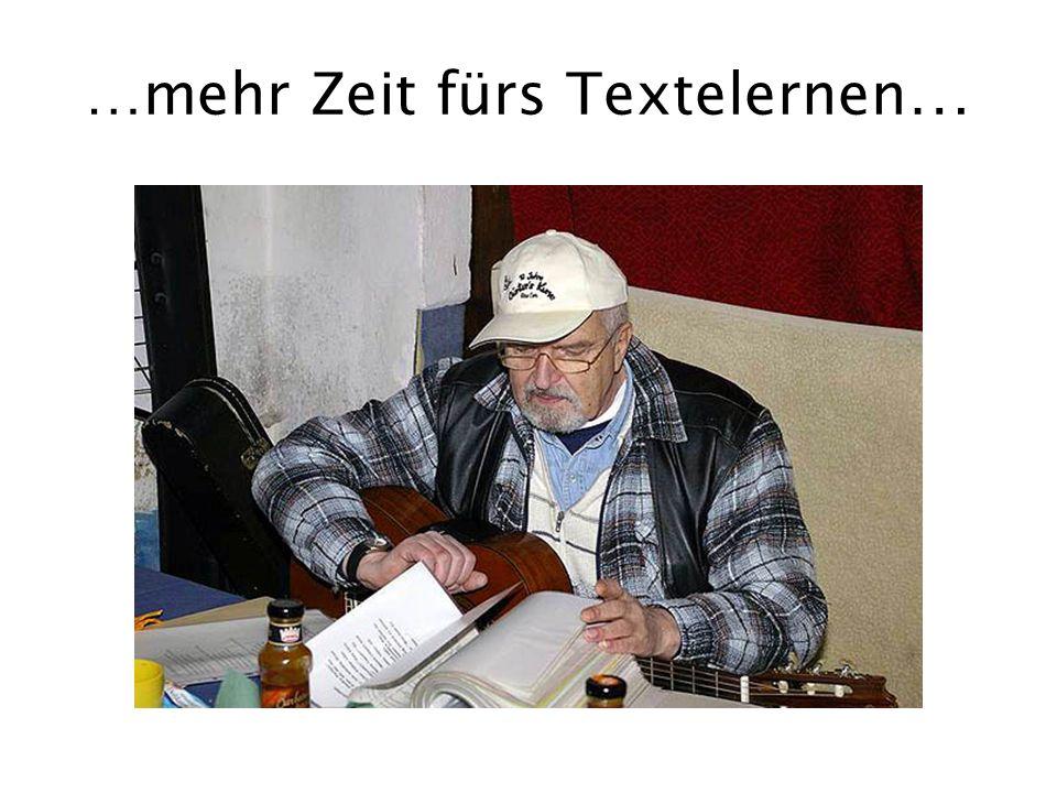 …mehr Zeit fürs Textelernen…