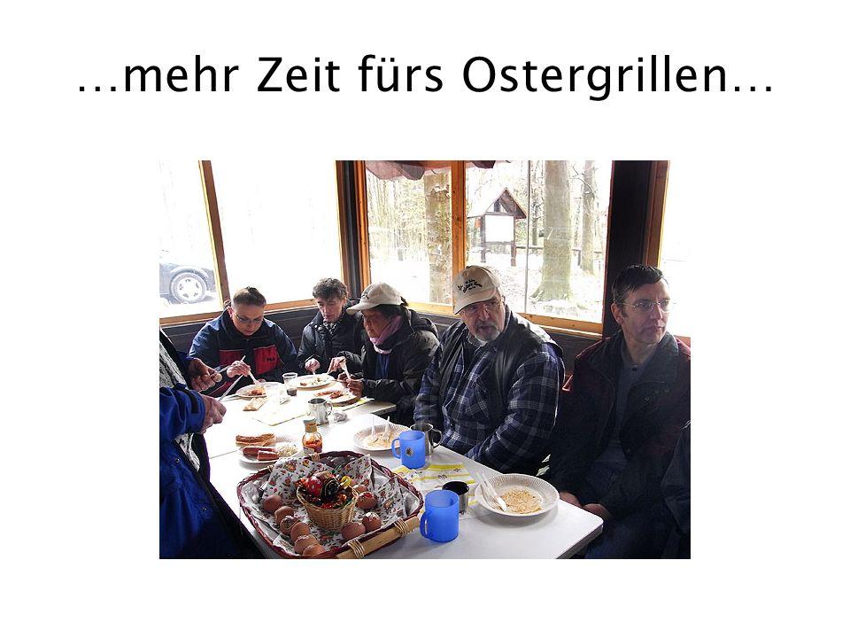 …mehr Zeit fürs Ostergrillen…
