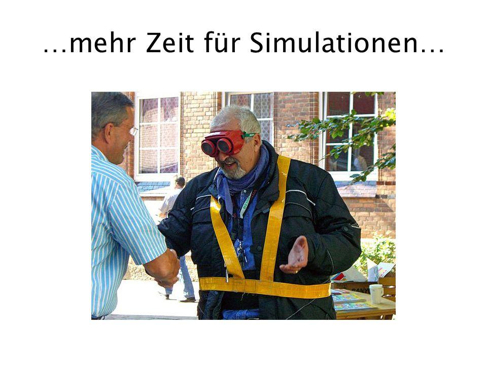 …mehr Zeit für Simulationen…