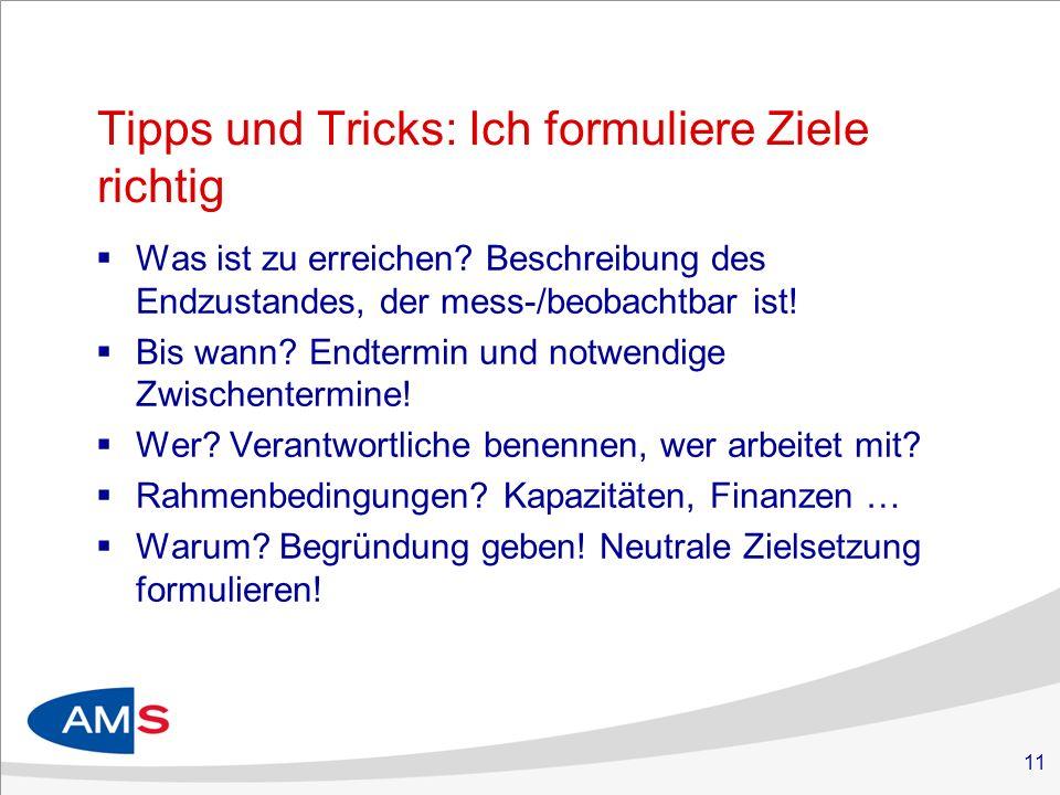 Tipps und Tricks: Ich formuliere Ziele richtig