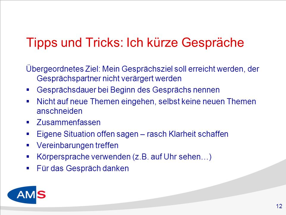 Tipps und Tricks: Ich kürze Gespräche