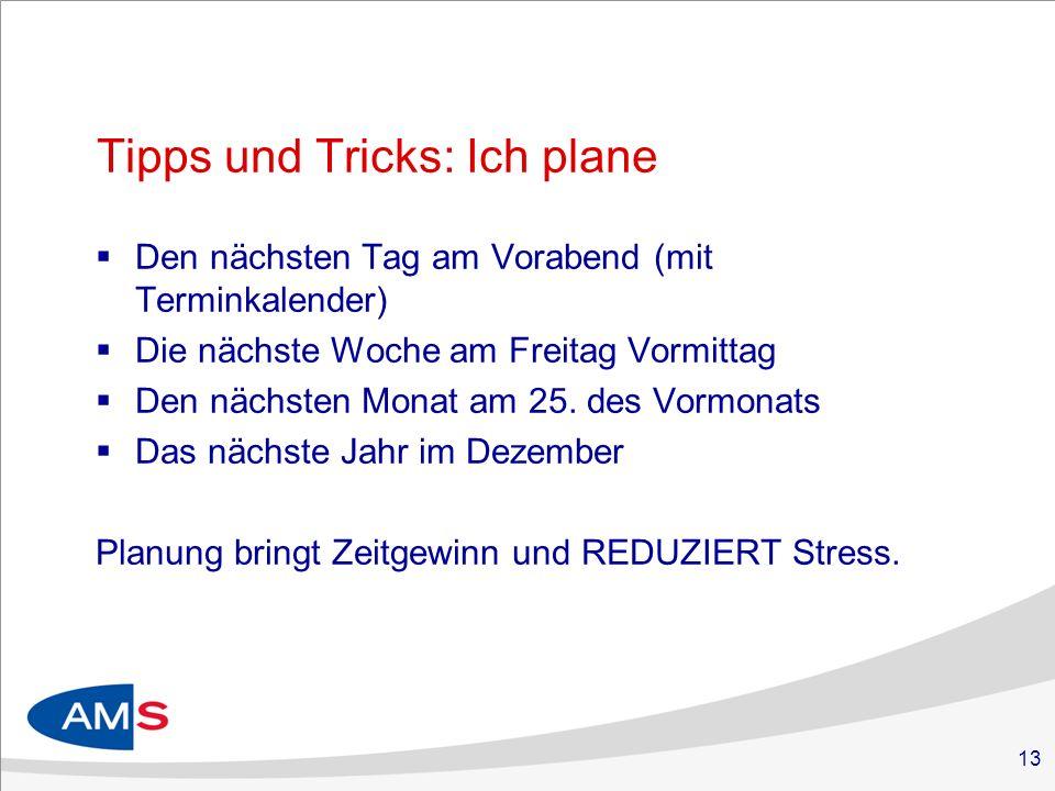 Tipps und Tricks: Ich plane