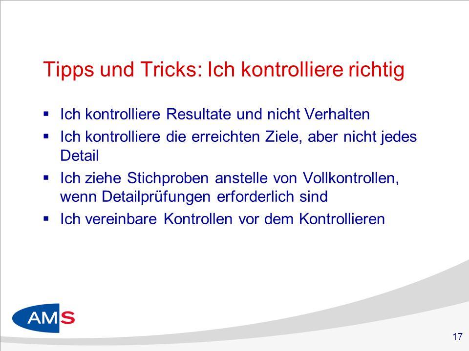 Tipps und Tricks: Ich kontrolliere richtig