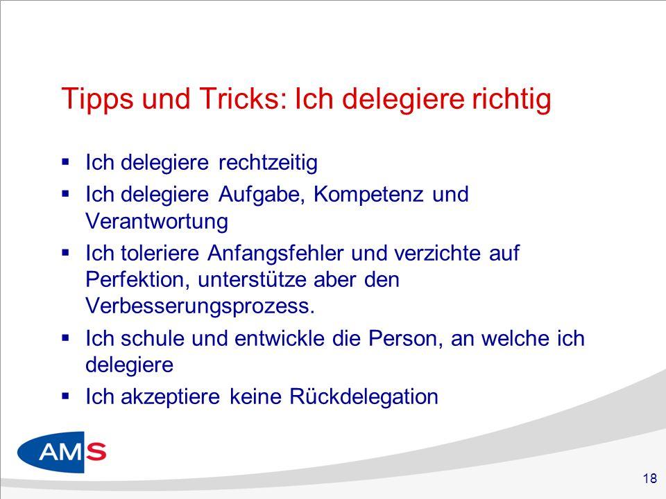 Tipps und Tricks: Ich delegiere richtig