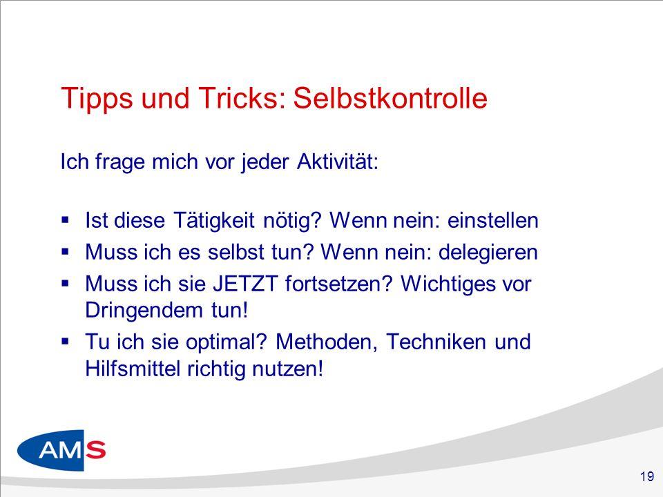 Tipps und Tricks: Selbstkontrolle