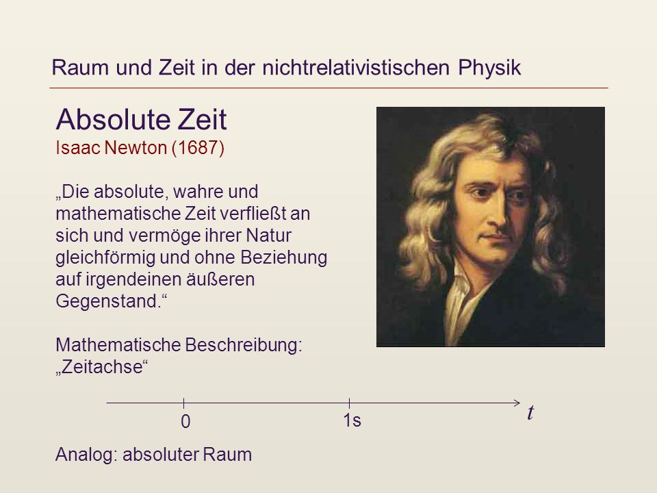 Raum und Zeit in der nichtrelativistischen Physik
