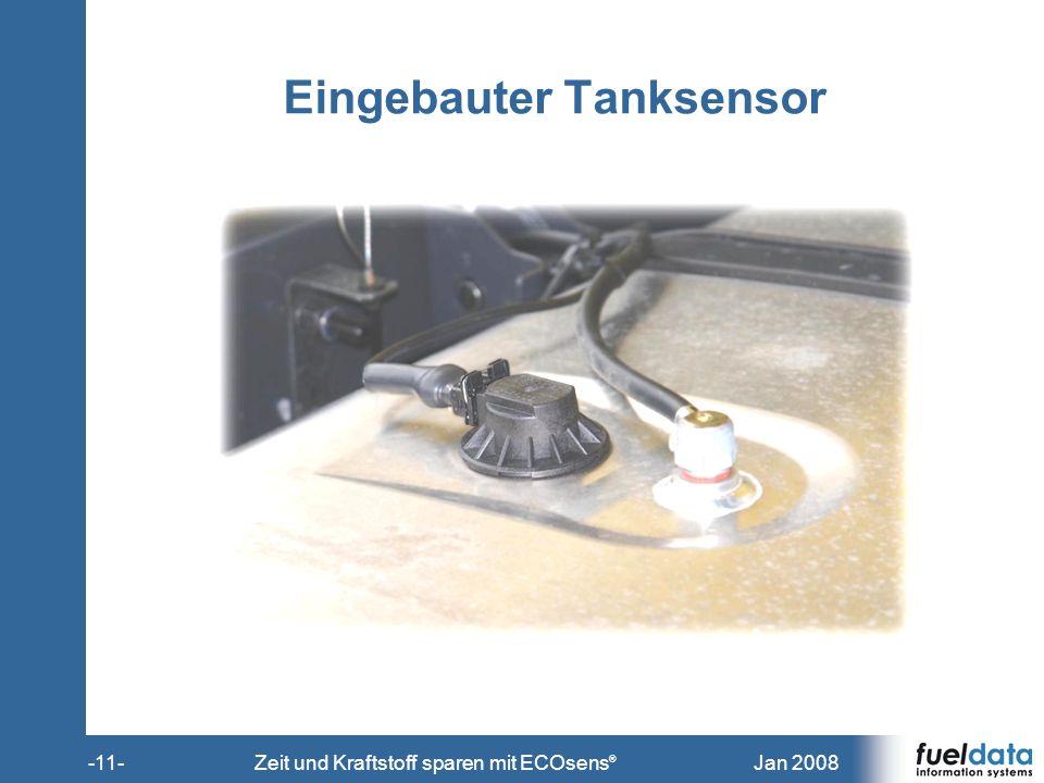 Eingebauter Tanksensor