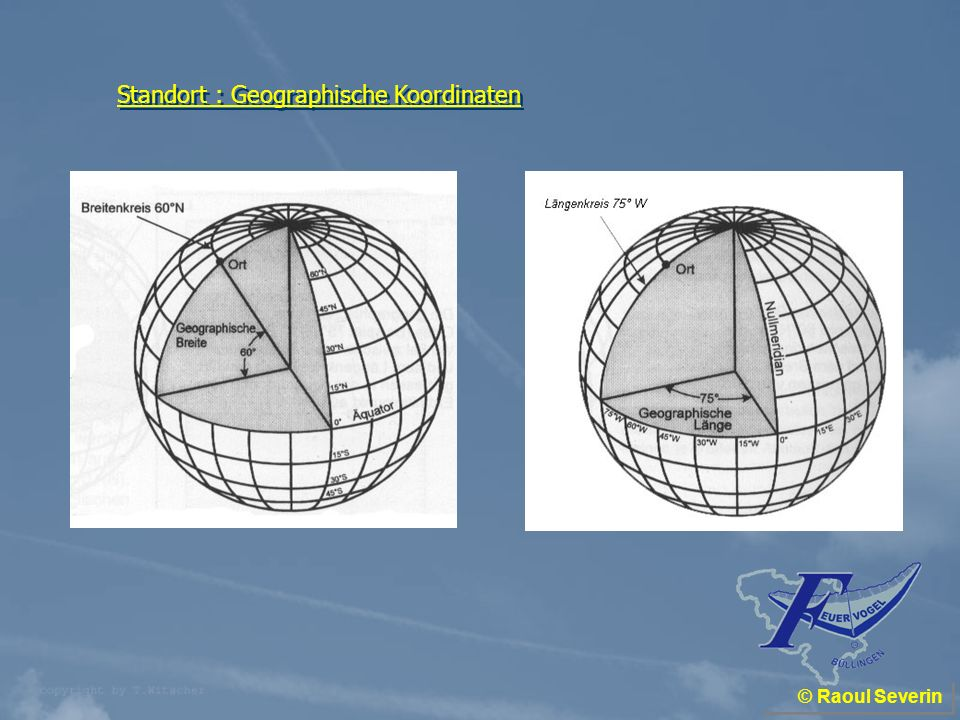 Standort : Geographische Koordinaten