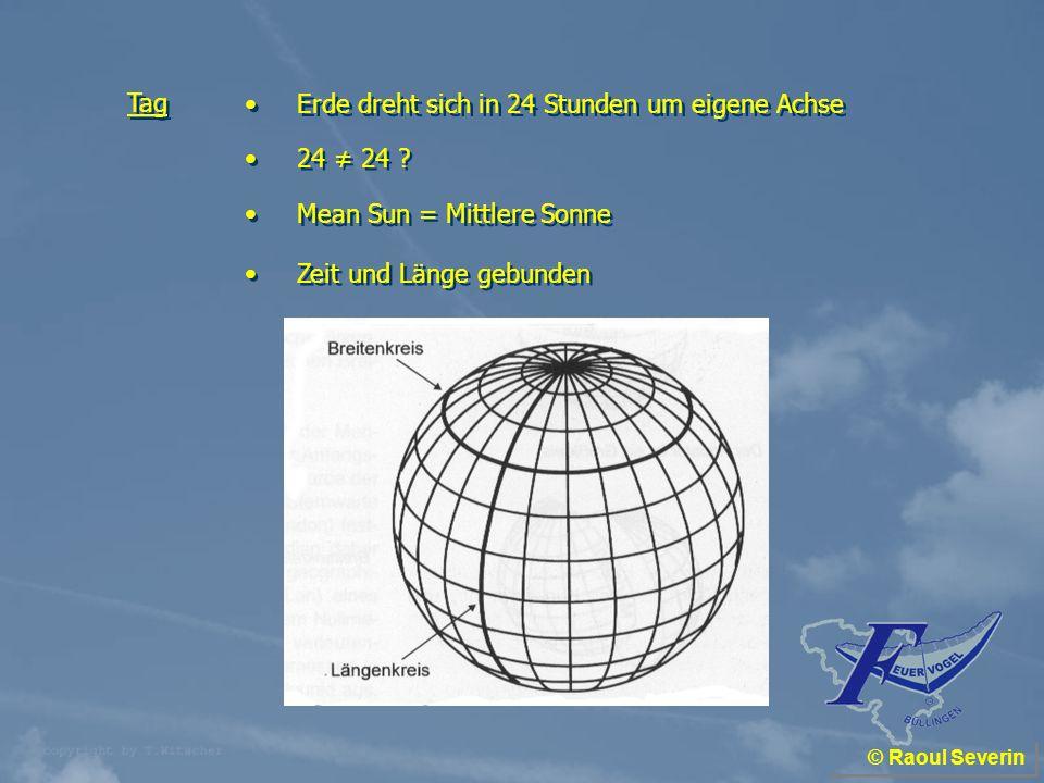 Erde dreht sich in 24 Stunden um eigene Achse