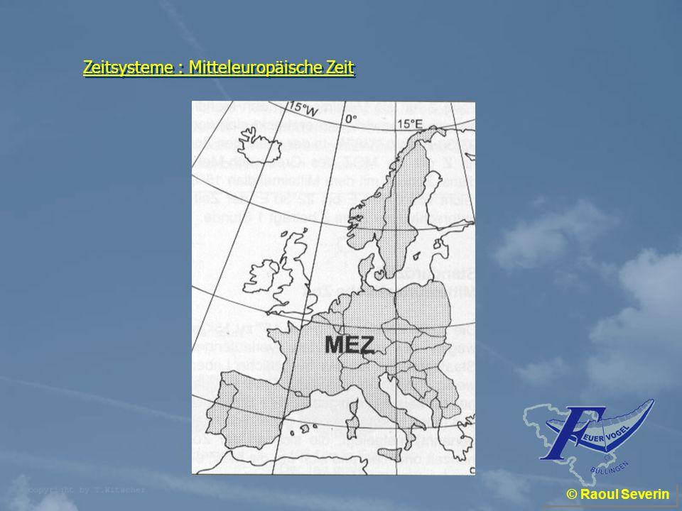 Zeitsysteme : Mitteleuropäische Zeit