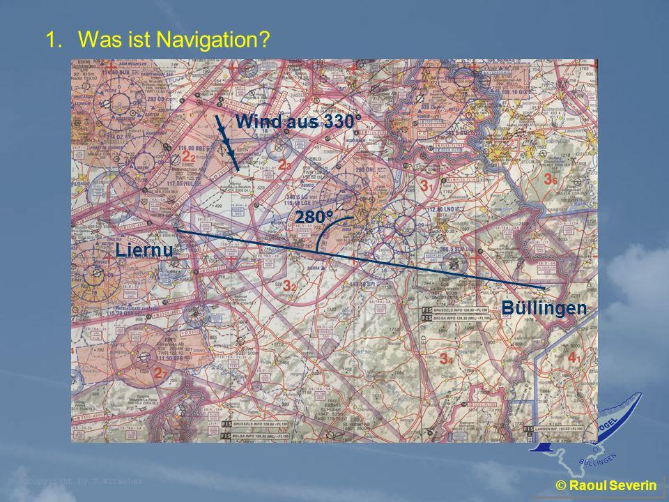 Was ist Navigation Wind aus 330° Liernu Büllingen 280°