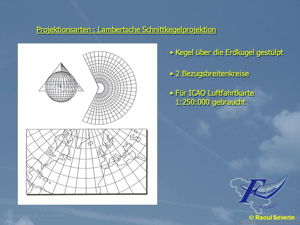 Projektionsarten : Lambertsche Schnittkegelprojektion